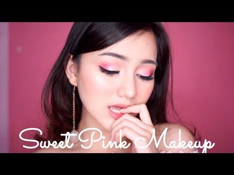 Sweet Pink Valentine Makeup Tutorial | FOCALLURE 18 COLORS EYESHADOW