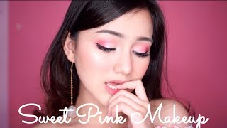 Sweet Pink Valentine Makeup Tutorial | FOCALLURE 18 COLORS EYESHADOW