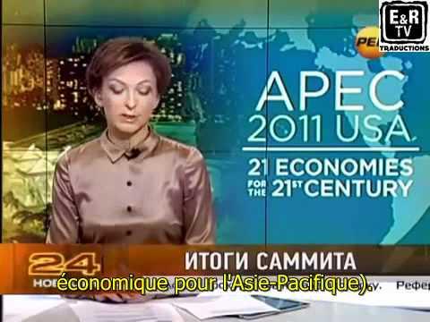 Tatiana  Limanova de la chaîne russe REN-TV fait un doigt d