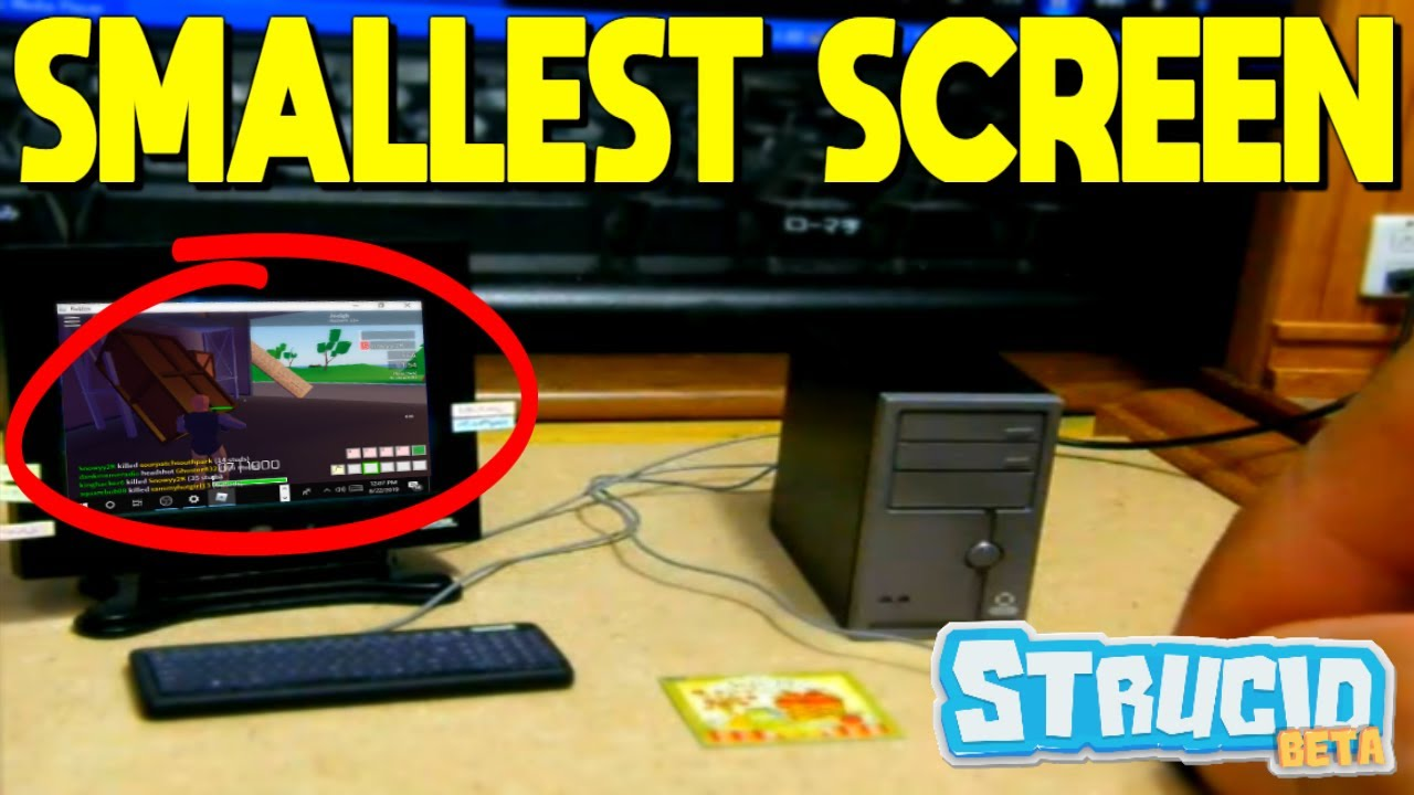 The SMALLEST SCREEN EVER (Strucid Roblox) - YouTube