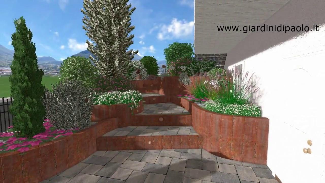 scale corten giardino privato trieste minimal youtube
