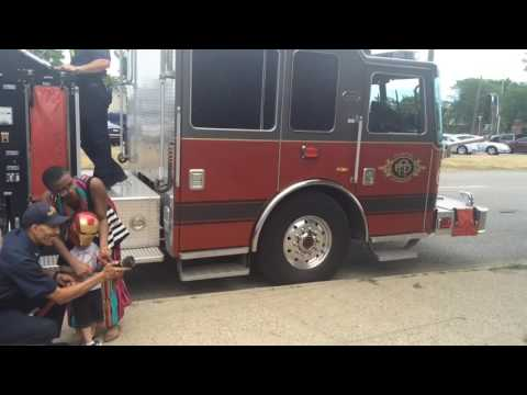 3-year-old superhero pays visit to Flint fire station