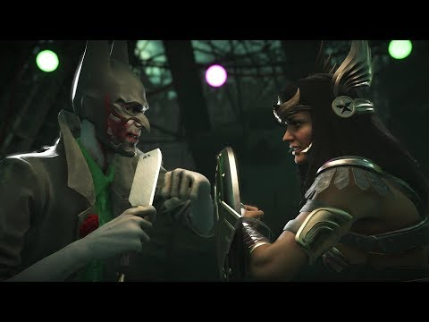 Injustice 2 : Joker Vs Wonder Woman - All Intro/Outros, Clash Dialogues, Super Moves