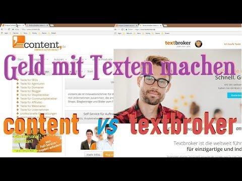 Geld mit Texten machen? (content vs textbroker) - YouTube