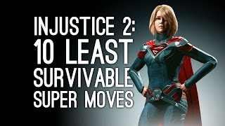 Injustice 2 Gameplay: 10 Least Survivable Things in Injustice 2