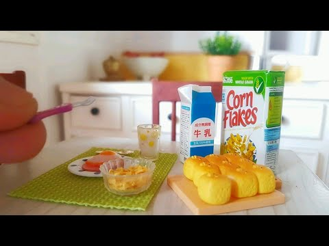 Rement collectibles food | Breakfast set and Corn flake | masakan mini