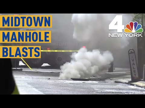 Violent Manhole Explosions Rattle Midtown Manhattan; 4 Hurt  NBC New York