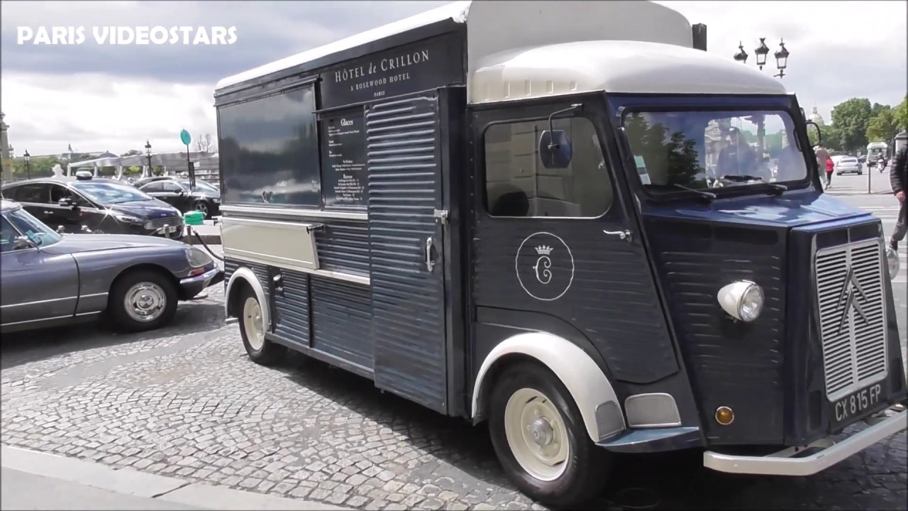 Ice-Cream truck Fourgon Citroën type H, DS Pallas, CX Prestige - Palace Crillon 3 juillet 2020 Paris