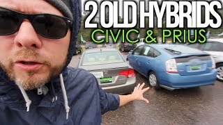 Would You Buy This Car? ( 2 OLD HYBRIDS ) Toyota Prius & Honda Civic   S1 - E2
