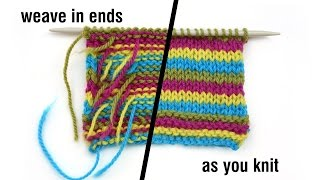 Knit Tips: Weave in ends as you go