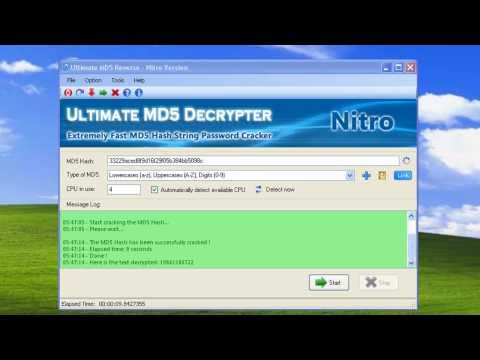 ultimate md5 decrypter nitro version gratuit