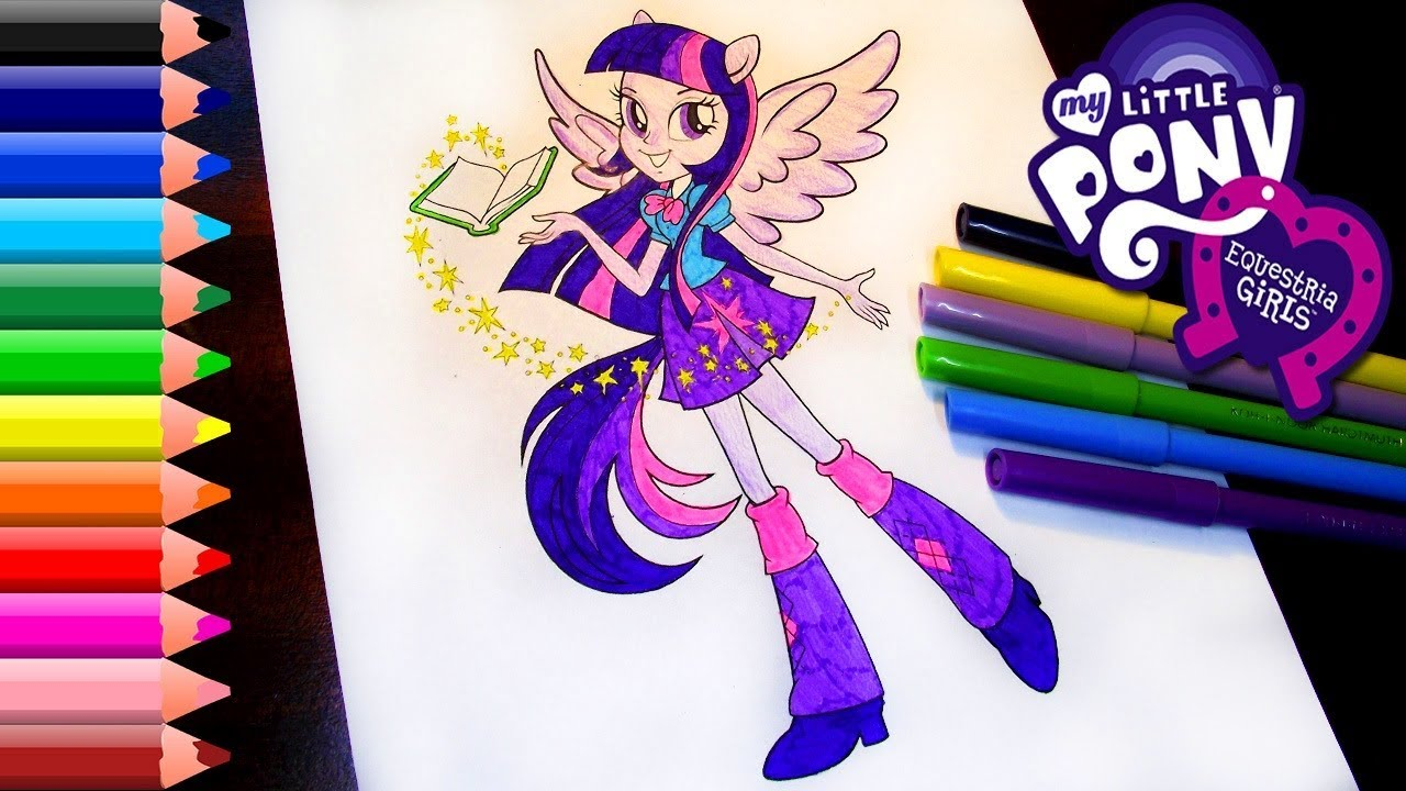 Hello Kitty Hawaiian Coloring Pages : Equestria girls coloring pages mlp twilight sparkle coloring youtube