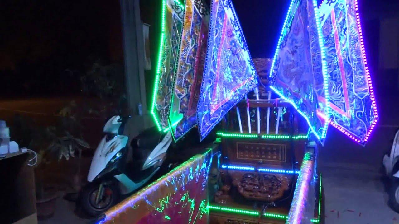 臺中 炬霸科技 12V LED 神轎 七彩 變換 爆閃 燈 燈條 底盤燈 軟條 陣頭 文轎 武轎 控制器 - YouTube