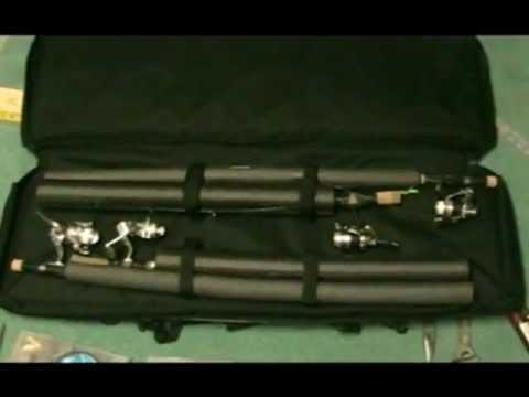 Ice rod case cabelas tatical gun case youtube for Ice fishing rod case