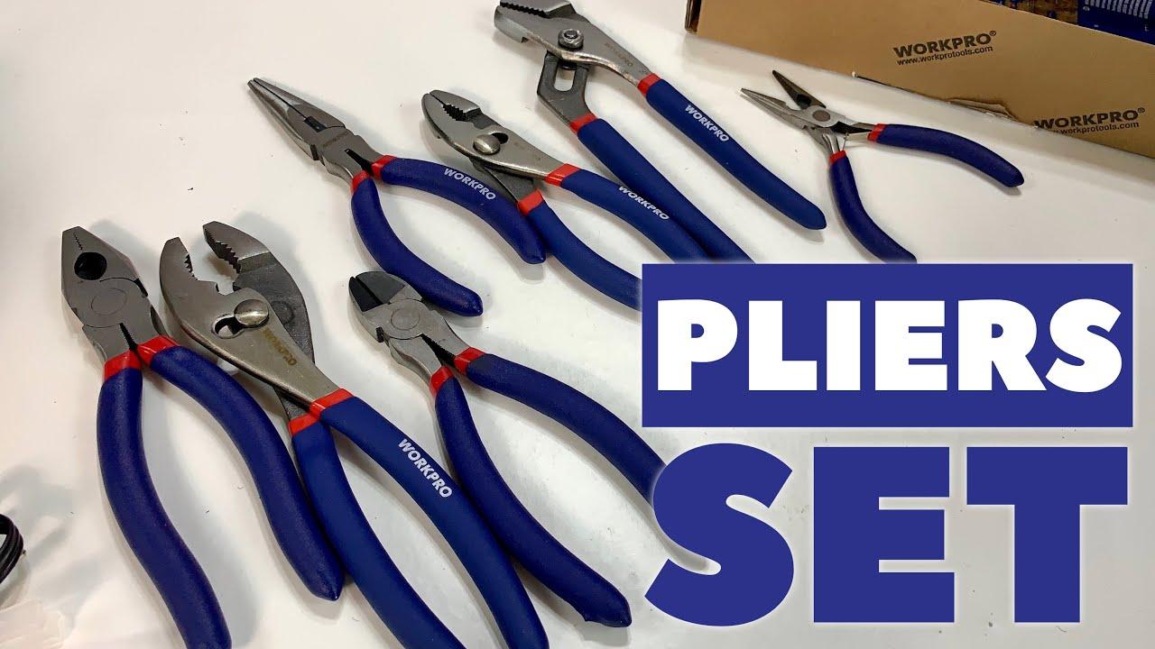 6 Pc Pliers Set Versatile Hardened Hand-Tools