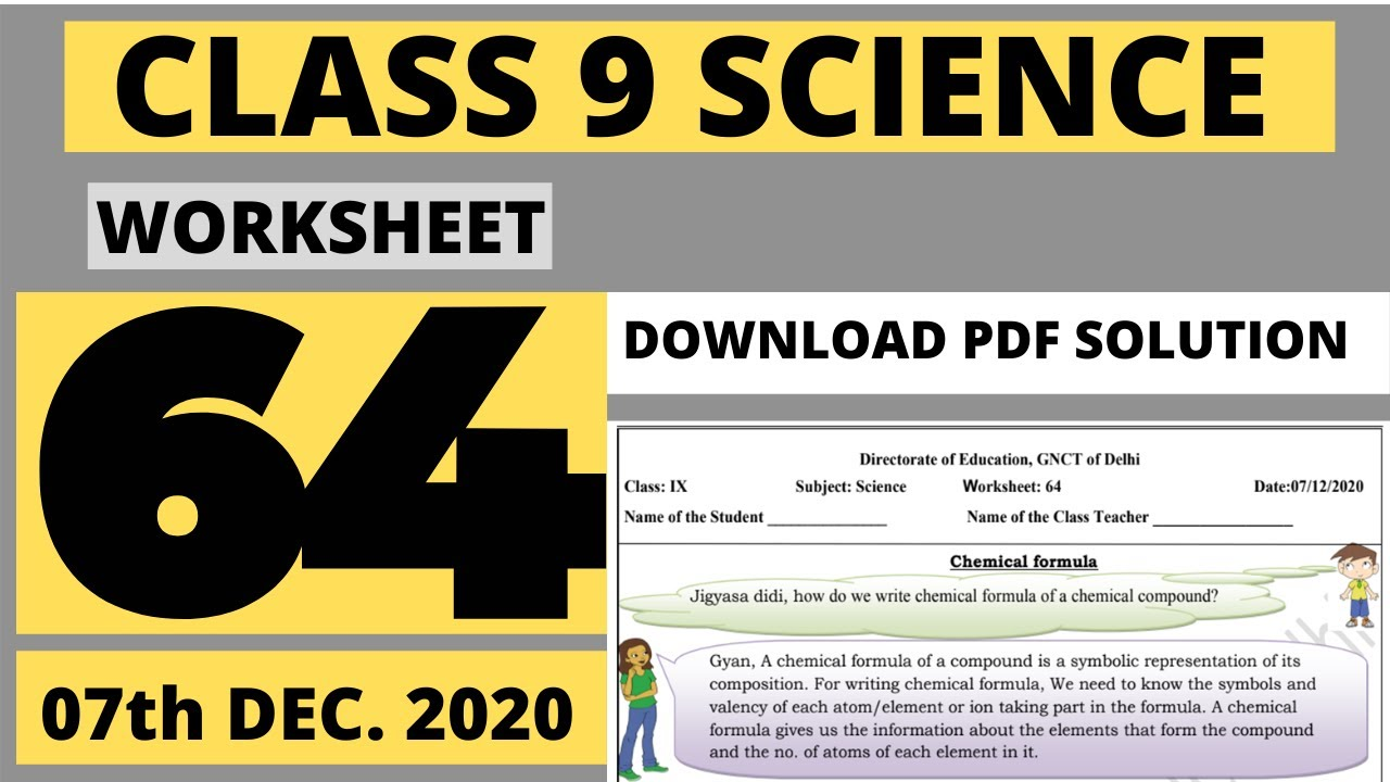 medium resolution of worksheet 64 Class 9 Science   Class 9 science worksheet 64   Science  worksheet 64 class 9 - YouTube