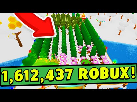 Donating 1 612 437 Robux To Team Trees From Roblox Tree Planting