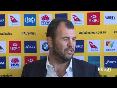 Wallaby coach Michael Cheika about his Rugby Championship squad