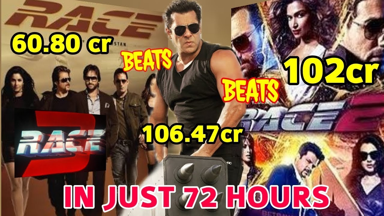 box office collection of race 3