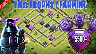 TH12 TROPHY BASE / FARMING BASE 2018 WITH 3 INFERNO | TH12 BEST BASE WITH 3 INFERNO TOWERS