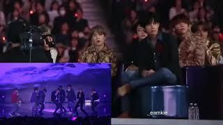 BTS reaction to EXO - 'Love Shot' Live Performance #BTS #EXO #LoveShot