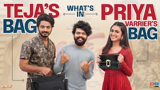 What's in PRIYA VARRIER & TEJA's BAG ?| Kaasko | Tamada media