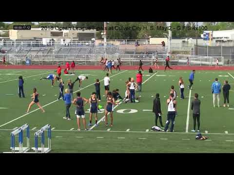 2018 Ocean League Finals at Culver City High School, May 2, G V, 4x100