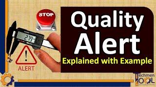 Techmentool: Quality (QA/QC)- Quality Alert | visit- www.techmentool.com