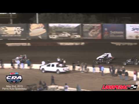 AMSOIL USAC/CRA Sprint Cars at Perris Auto Speedway 5-2-15
