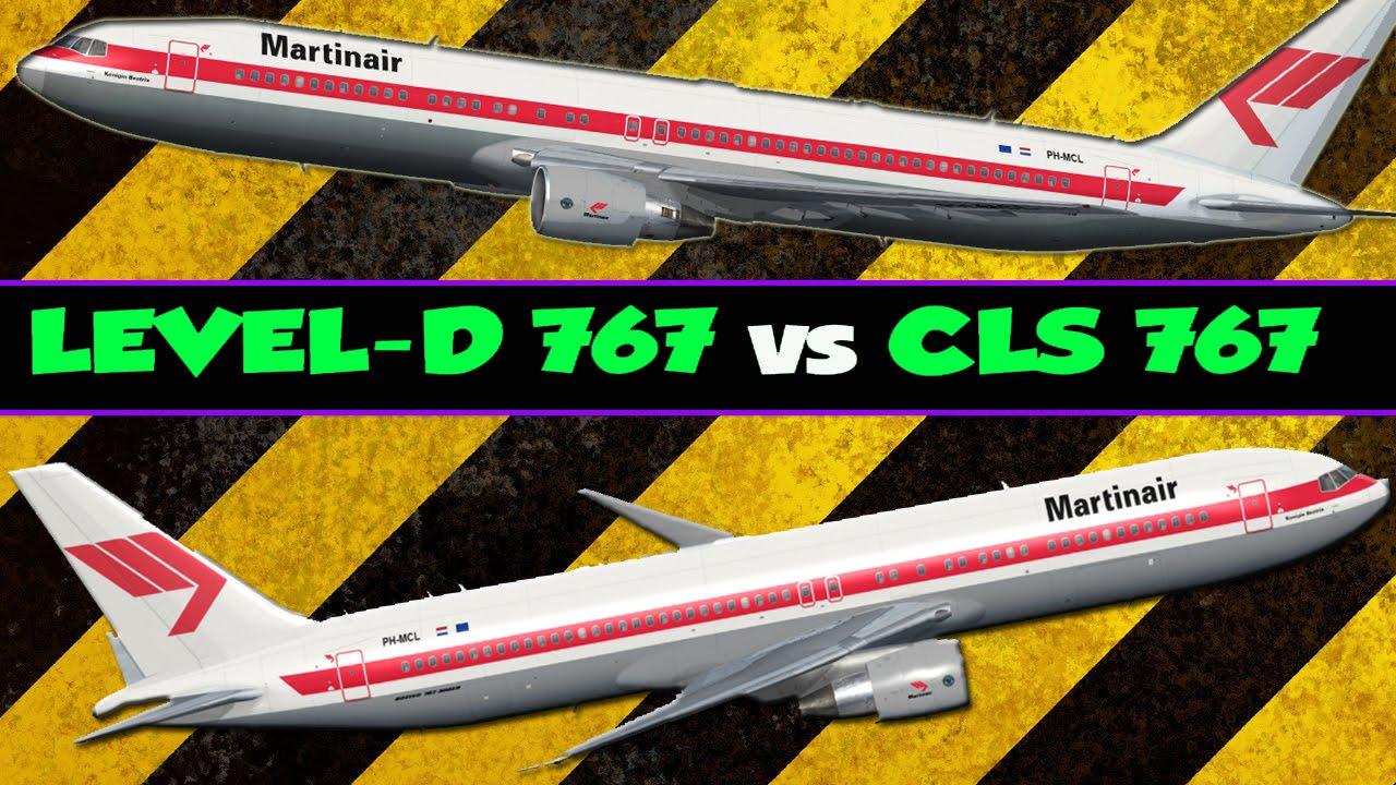 FSX HD Level-d 767 vs CLS 767 Review