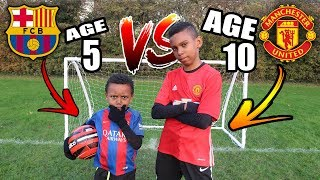 Download lagu 5 YEAR OLD vs 10 YEAR OLD Penalty Shootout Challenge MP3