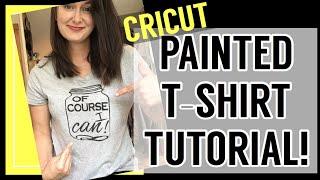 How to paint t-shirts! || Cricut Freezer Paper Stencil