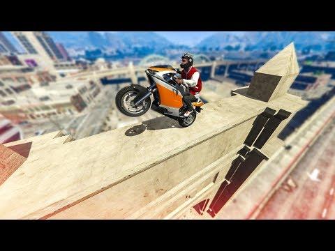 SUPER CLEAN BIKE STUNT LANDING! - (GTA 5 Stunts & Fails)