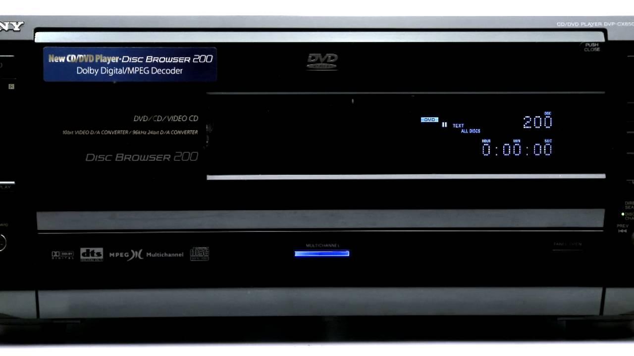 Sony DVP CX850D 200 DVD CD Changer