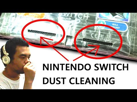 Nintendo Switch Dust Cleaning