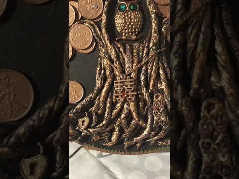 Денежное дерево. Амулет на деньги. Картина из монет. Фен шуй. Амулет Хси-хси. Амулет «Цветок Аравии»
