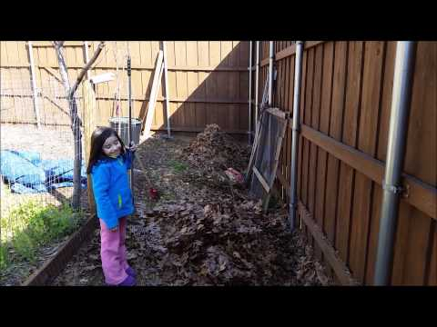 Garden Girl Making Compost