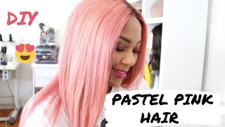 DIY PASTEL PINK HAIR TUTORIAL