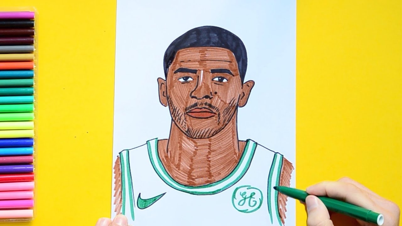 huge selection of f8b4b 7b02c How to draw Kyrie Irving (NBA Player)
