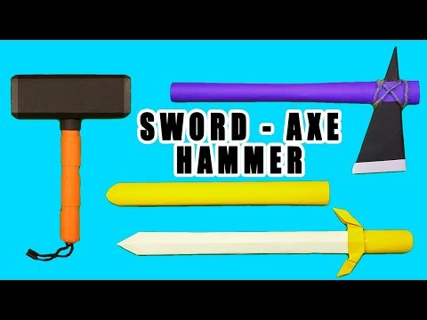 03 Smart Ideas - How to make paper Sword/Axe/Hammer