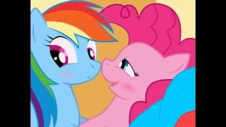 pinkie pie and rainbow dash heaven hen you kiss me