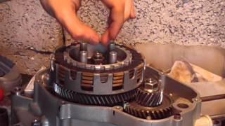 сборка и настройка  сцепления на примере двигателя от мопеда stels trigger