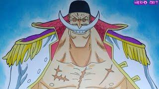 Cách Vẽ Chân Dung Râu Trắng Whitebeard Mạnh Nhất Của One Piece