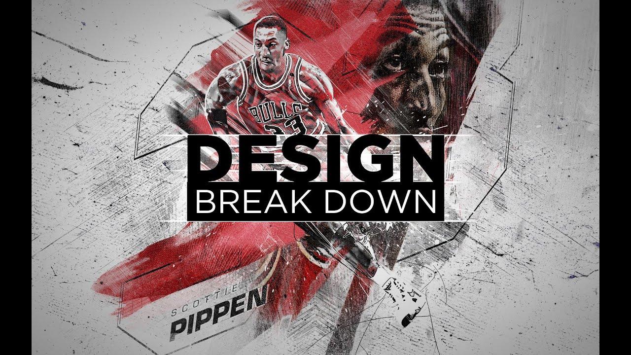 scottie pippen nba design photoshop process break down