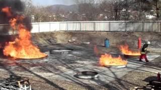 Löschen mit Feuerlöscher