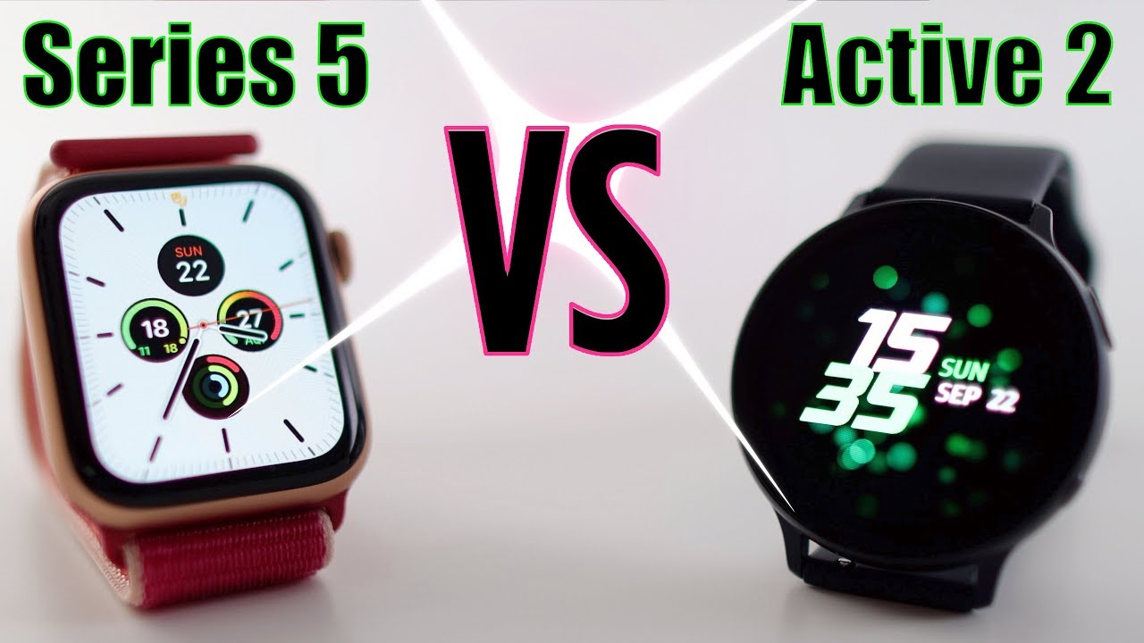 Samsung Galaxy Watch Active 2 Versus Apple Watch Series 5 Review Youtube