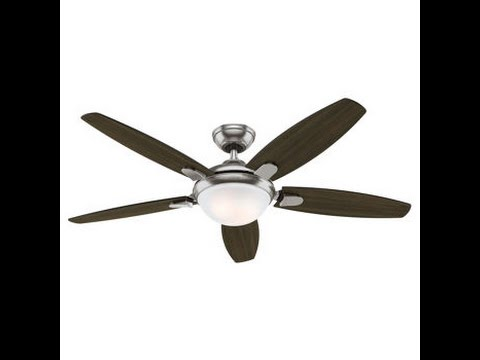 Costco hunter 54 inch contempo ceiling fan review item 729655