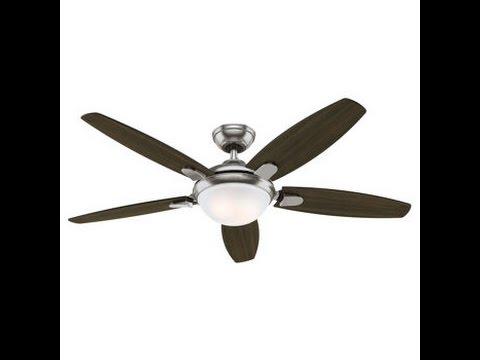 Costco hunter 54 inch contempo ceiling fan review item 729655