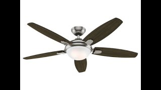 COSTCO Hunter 54 inch Contempo Ceiling Fan Review Item #729655 Review