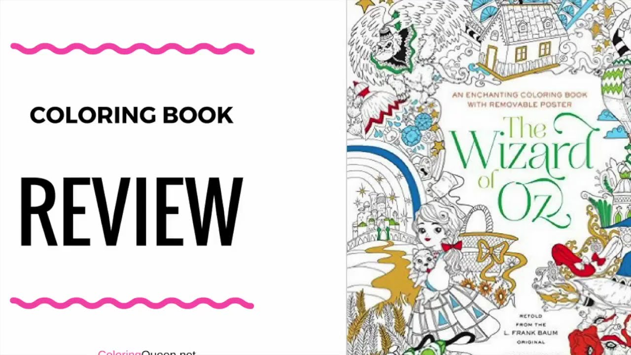 An Enchanting Coloring Book - Wizard of Oz Coloring Book - Fabiana ...